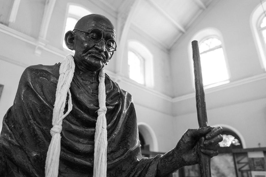 Gandhi Statue at Aga Khan Palace, Pune