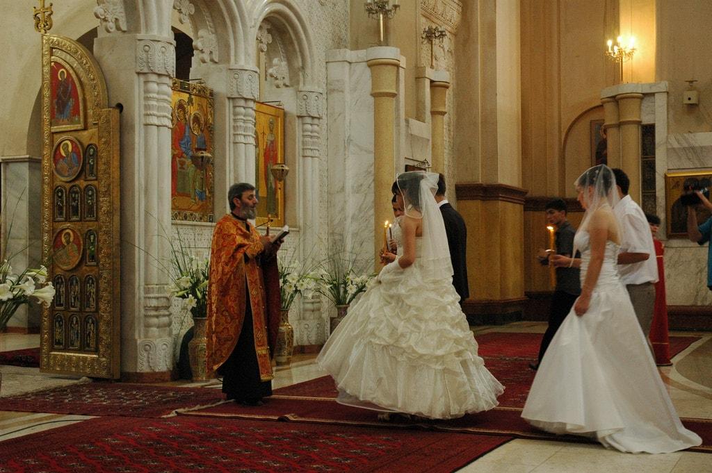 Georgian church wedding