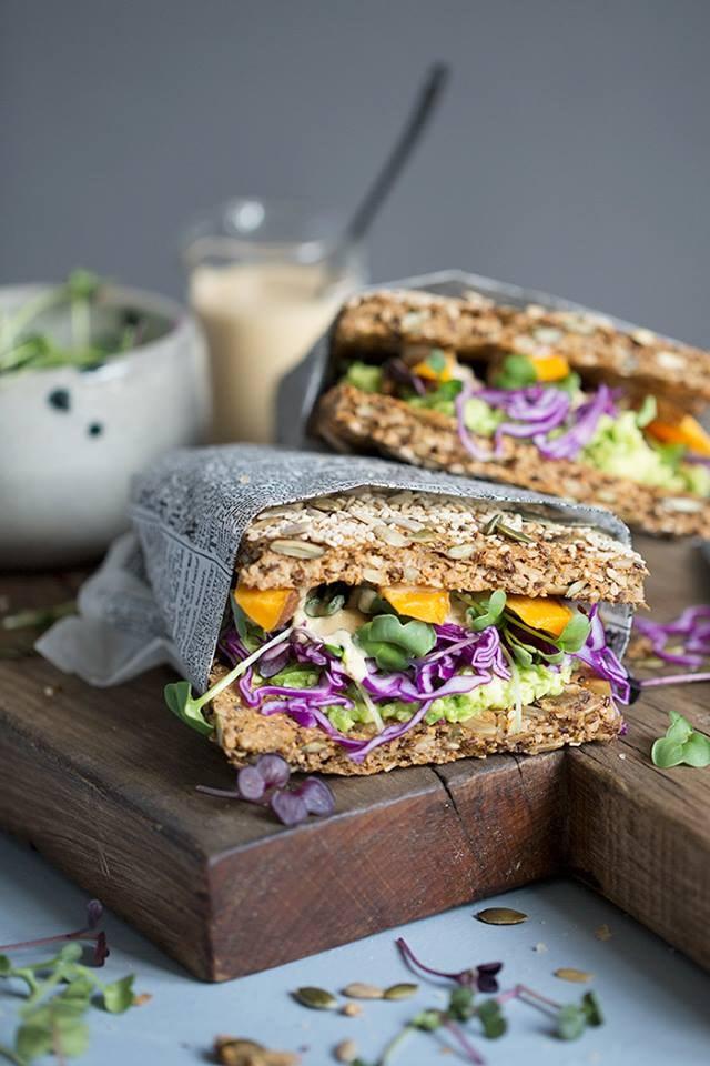 Gluten free, vegal paleo sandwiches | Courtesy of Wellandvibrant - Dagmar's Kitchen