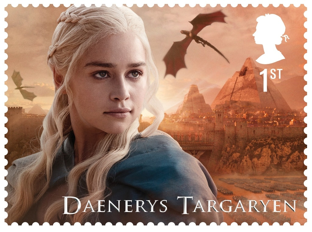 GoT Daenerys Targaryen stamp