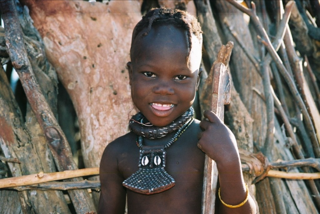 Himba child with traditional jewellery