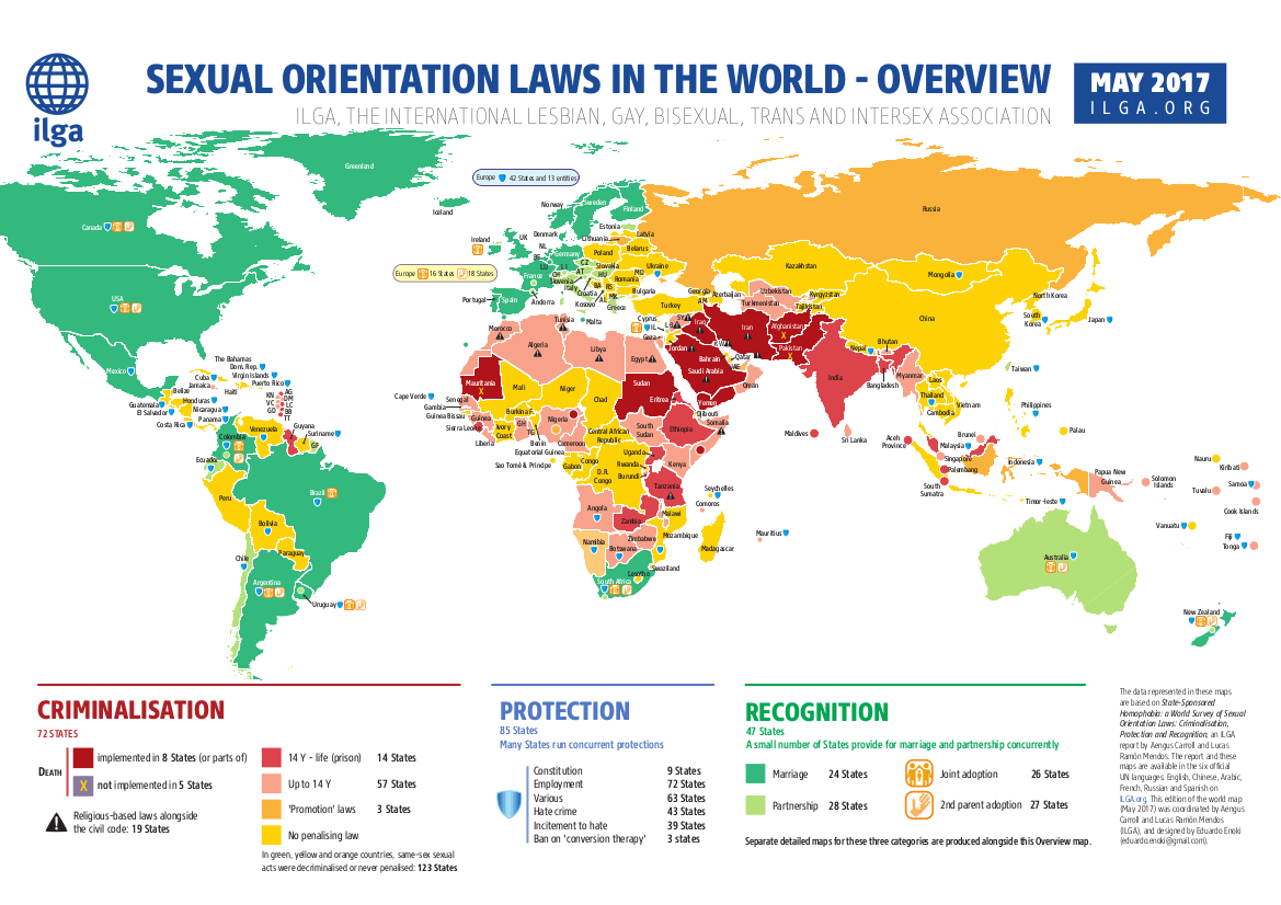 Legality of homosexuality by country