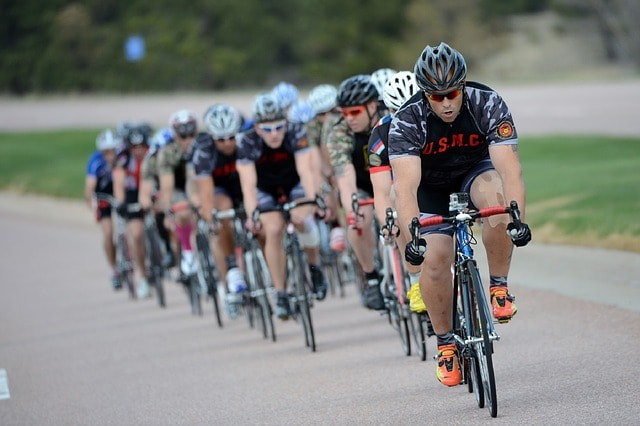 Cycling Riders Cyclists Fast Bicycles Helmet