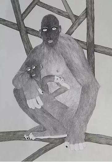 Moran Kliger, work from 'Primates' Series
