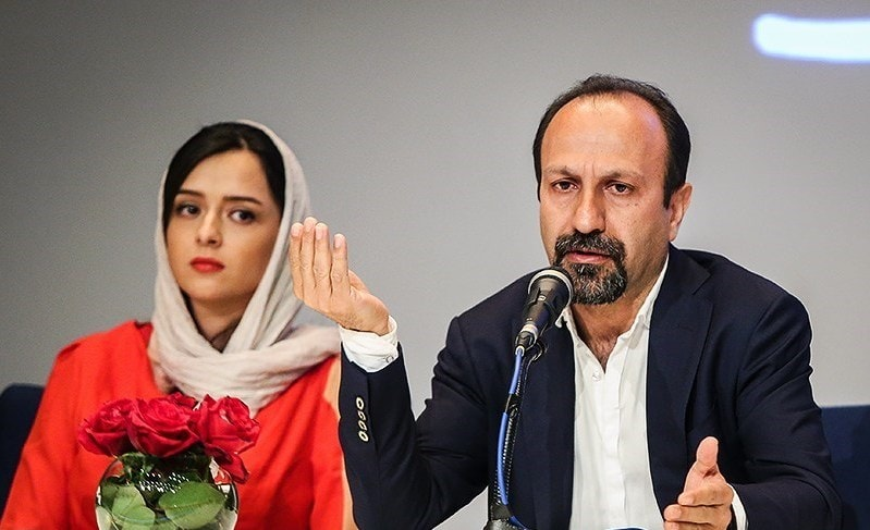 Director Asghar Farhadi and actress Taraneh Alidoosti   © Hamed Malekpour / Wikimedia Commons