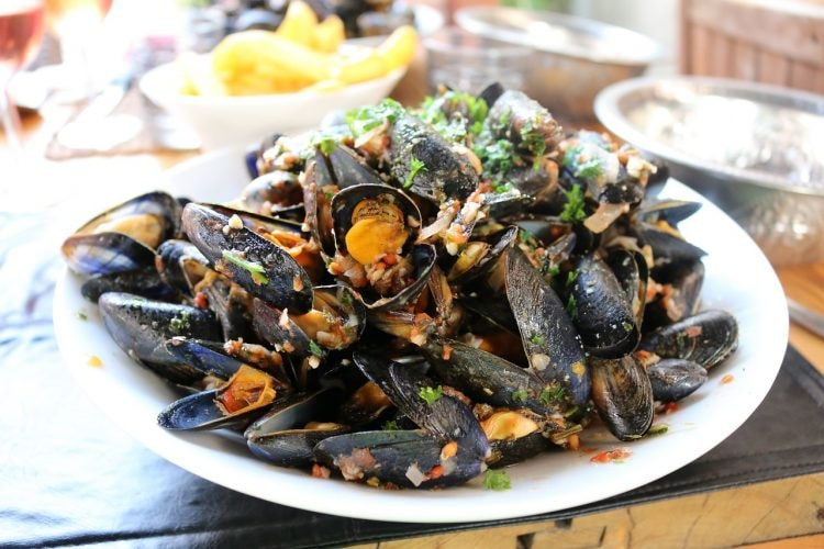 A generous platter of mussels CC0 Pixabay