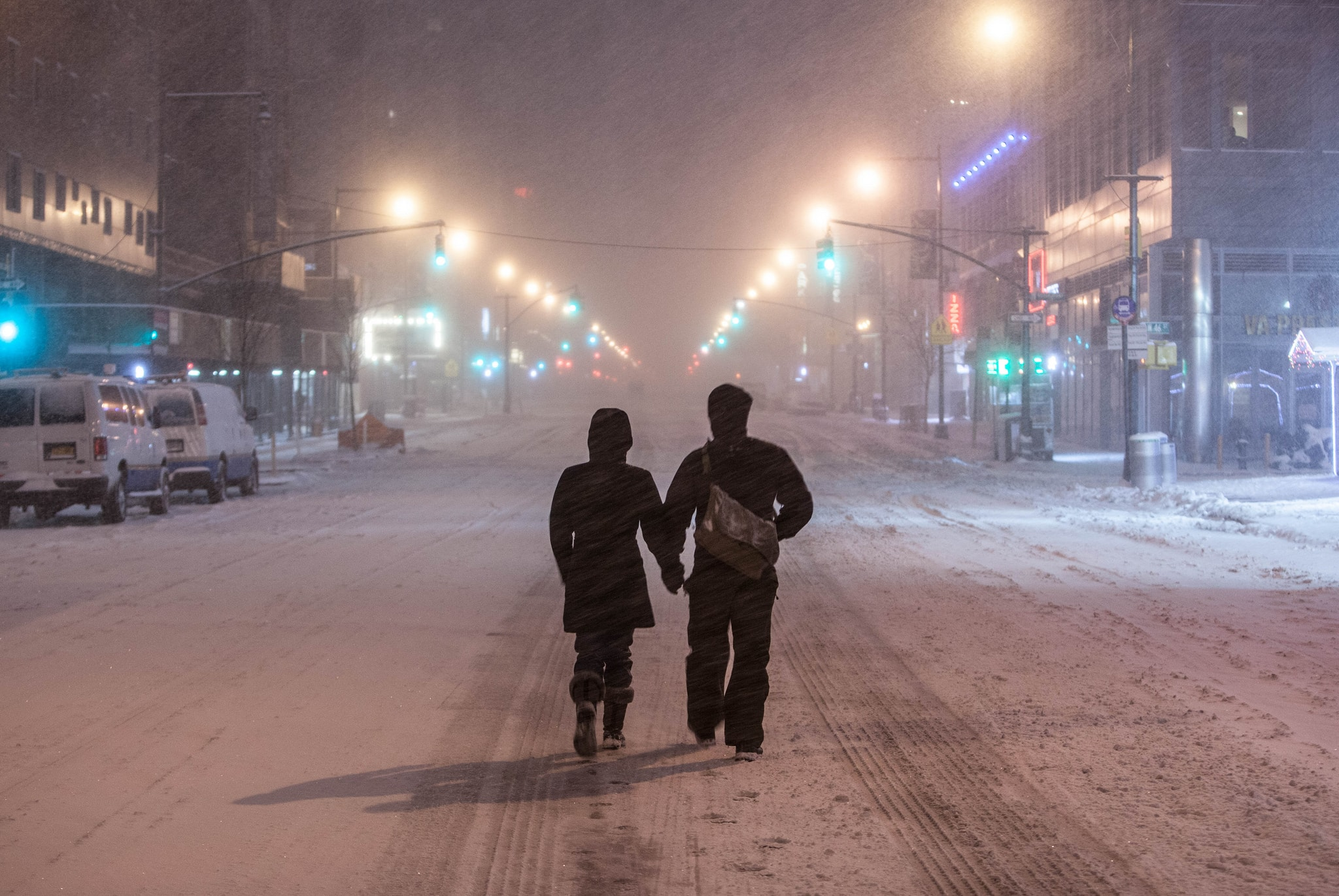 New Yorkers in the snow | Anthony Quintano Flickr