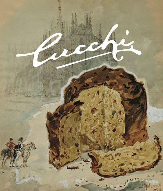 An old Cucchi advertisment showing their famous panettone | Courtesy Cucchi Pasticceria