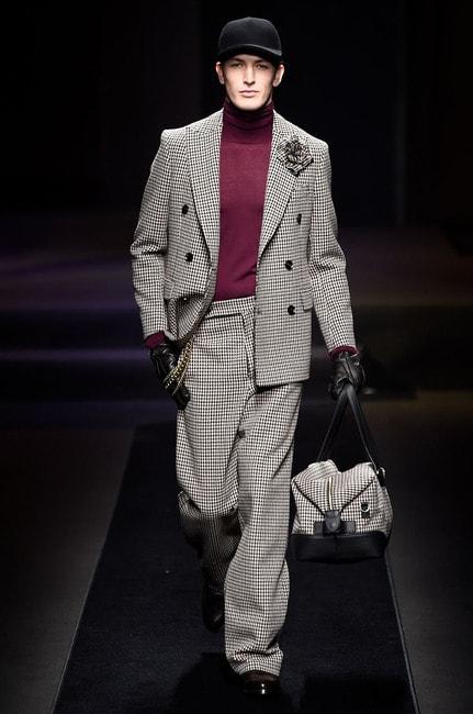 Photo by WWD/REX/Shutterstock (9319491ad), Model on the catwalk, DAKS show, Runway, Fall Winter 2018, Milan Fashion Week Men's, Italy – 14 Jan, 2018