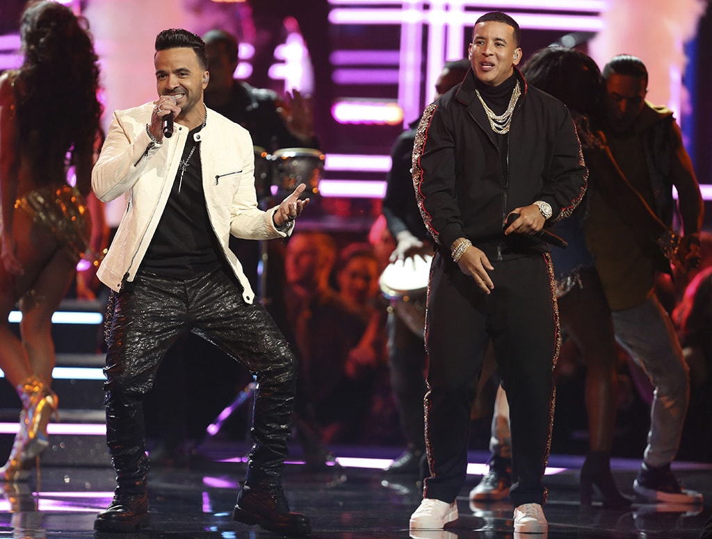 "Luis Fonsi and Daddy Yankee perform ""Despacito"" at the 60th annual Grammy Awards 