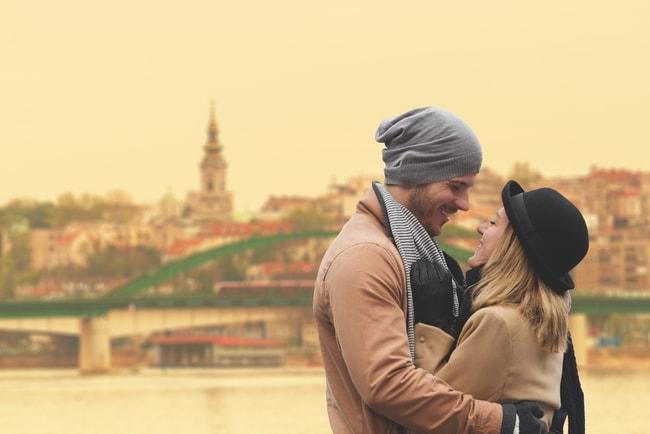 A frustratingly beautiful couple enjoying a moment in Belgrade   © AstroStar/Shutterstock