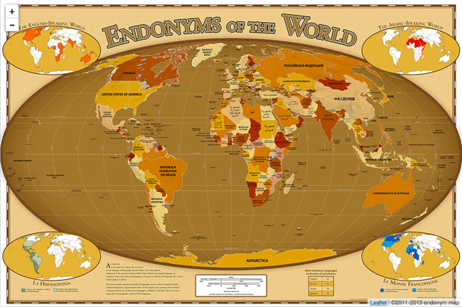 "A map showing the endonyms of the world | <a href=""http://endonymmap.com/"" target=""_blank"" rel=""noopener"">© Endonym Map</a>"
