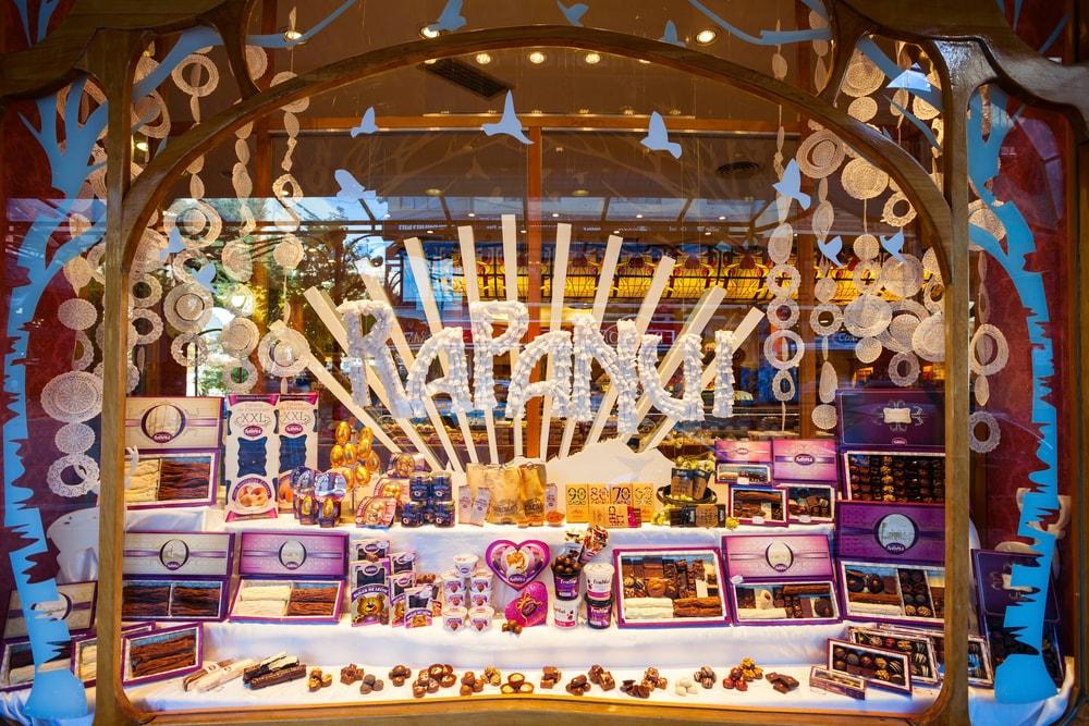 Chocolate store showcase in Bariloche, Argentina | © saiko3p/Shutterstock