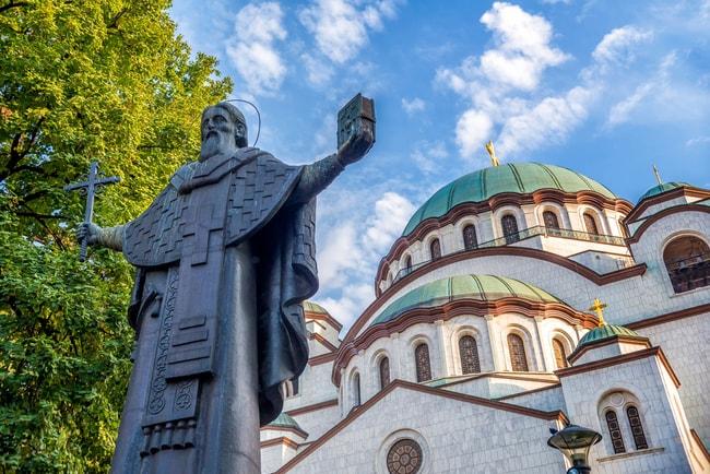 The Church of Saint Sava photobombing the man himself   © Kirill_Makarov/shutterstock