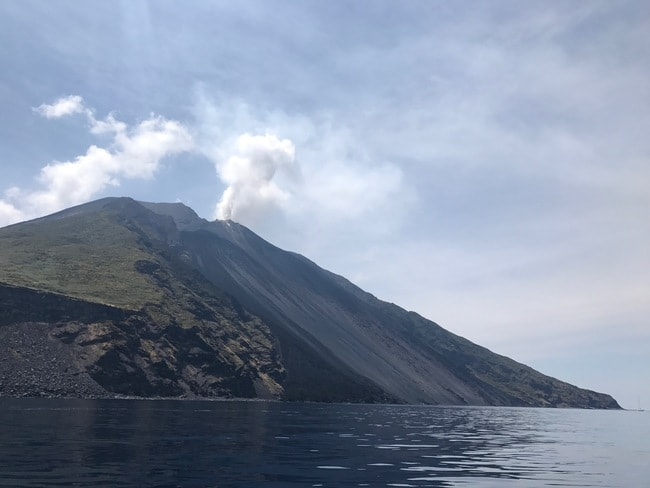 Swim alongside the Sciara del Fuoco, Stromboli; photo- Daria Khan