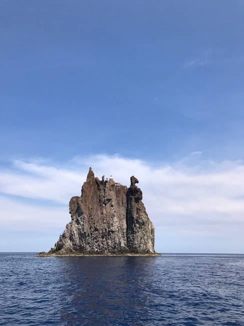 Swim around Strombolicchio, the volcanic plug near Stromboli; photo- Daria Khan III