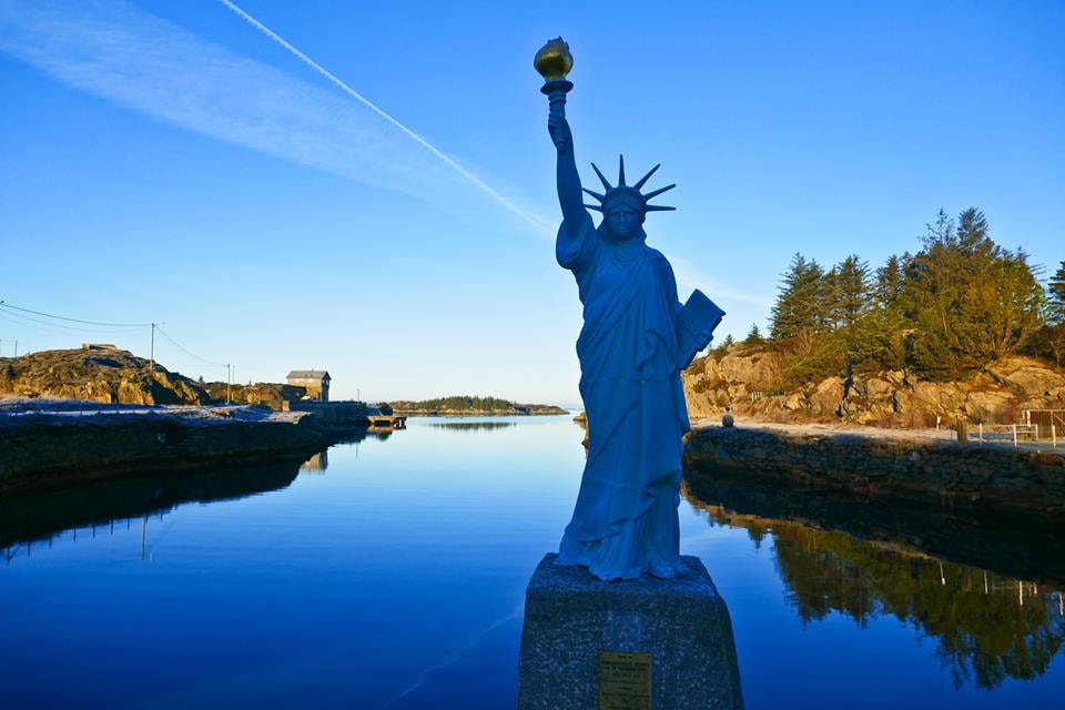 The Statue of Liberty in Visnes | Courtesy of Opplev Karmoy