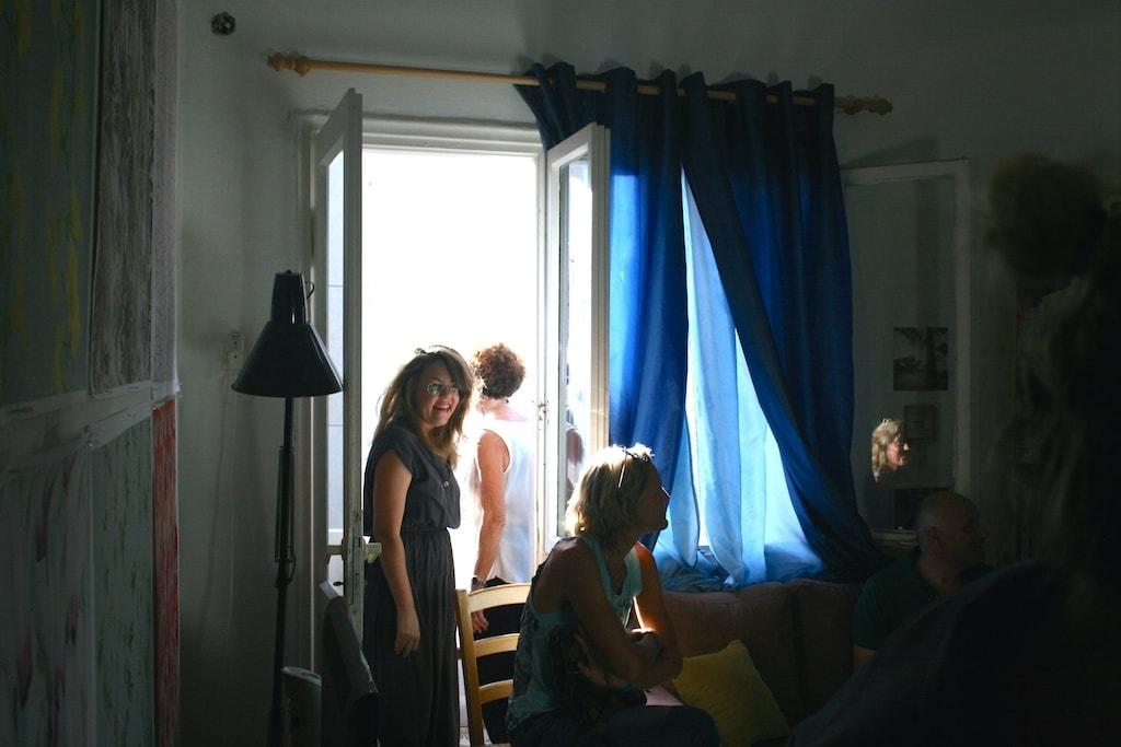 vera vladimirsky in her studio