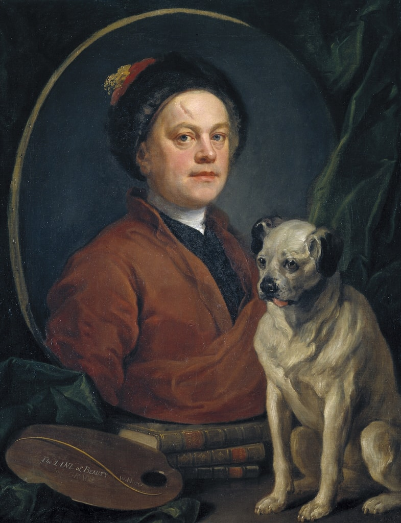 William Hogarth - The Painter and his Pug copy
