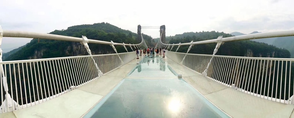 World S Longest Glass Bridge Opens In China And It Sways A