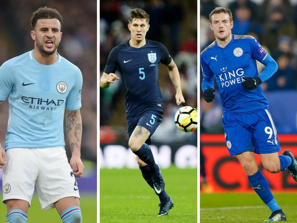 England's Kyle Walker, John Stones and Jamie Vardy all hail from Yorkshire | © REX/Shutterstock/Joe Toth/James Marsh/Simon Davies