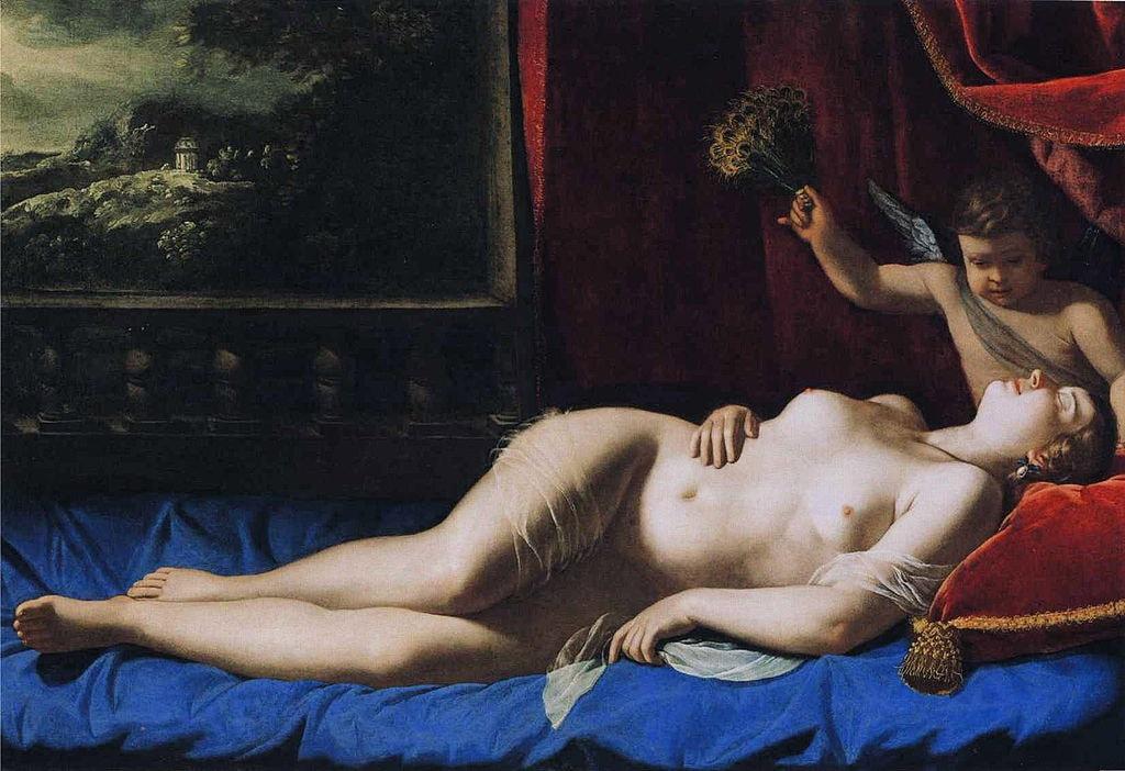 "Artemisia Gentileschi, 'Venus and Cupid', 1625–1630 |<a href=""https://en.wikipedia.org/wiki/File:Artemisia_Gentileschi_-_Sleeping_Venus.JPG"" target=""_blank"" rel=""noopener"">© WikiCommons</a>"