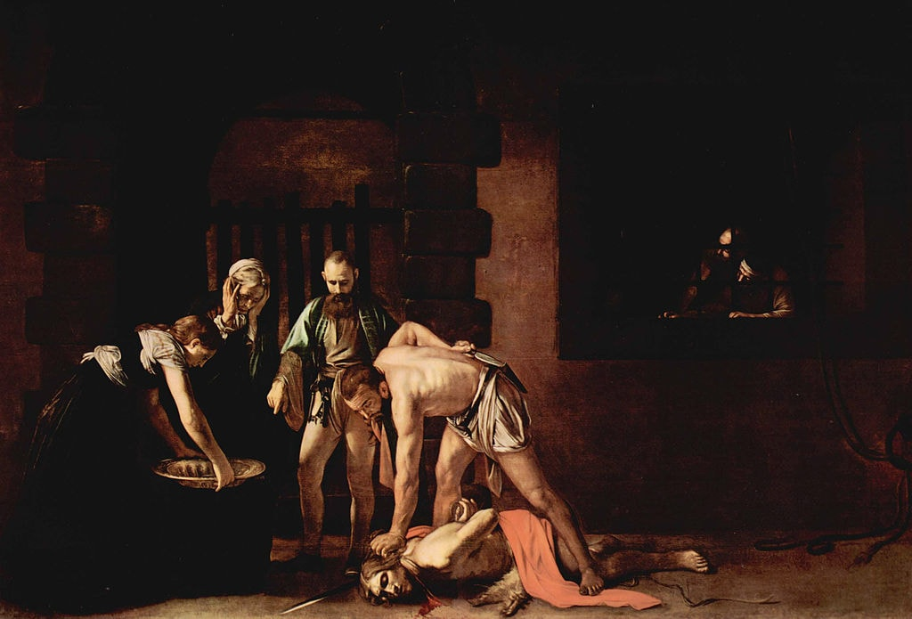 "Michelangelo Merisi da Caravaggio, 'The Beheading of St. John the Baptist,' 1608 | <a href=""https://commons.wikimedia.org/wiki/File:Michelangelo_Caravaggio_021.jpg"" target=""_blank"" rel=""noopener"">© The Yorck Project/WikiCommons</a>"
