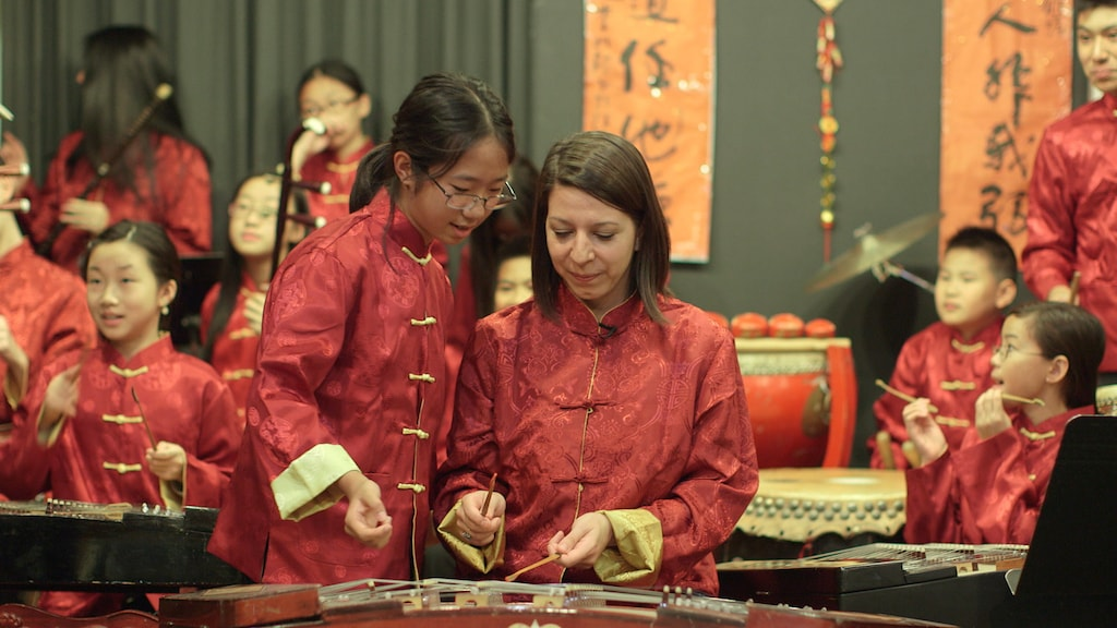 201 Mencius Youth Orchestra in Manhattans Chinatown - photo by Lina Plioplyte