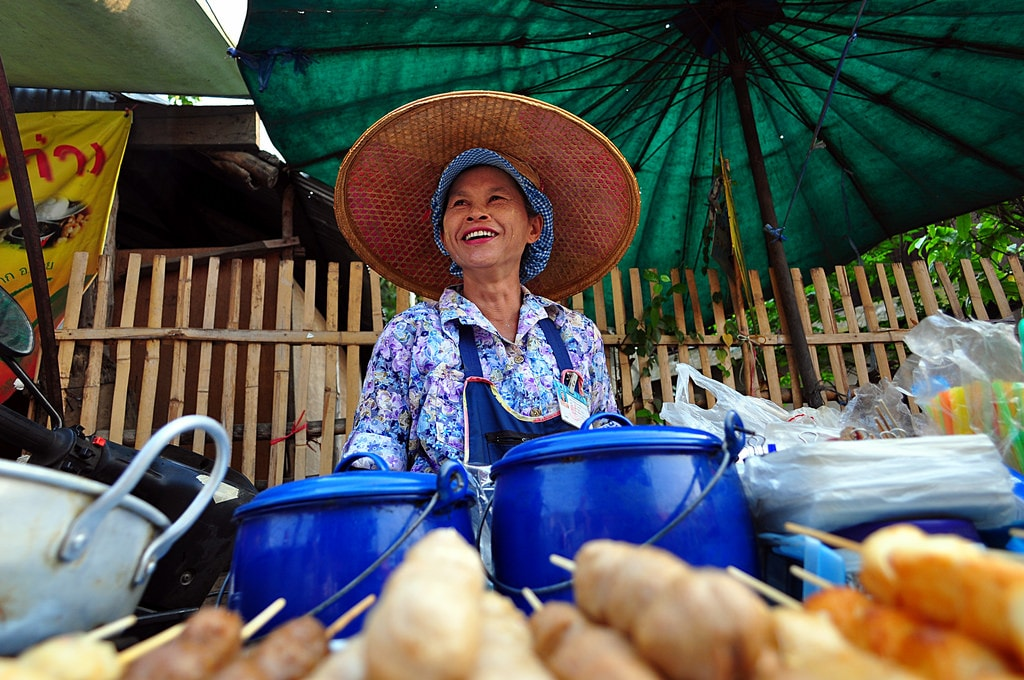Street seller in Thailand