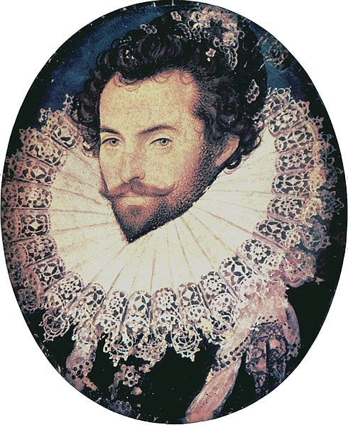 """Nicholas Hilliard, 'Portrait of Sir Walter Raleigh', c. 1585 