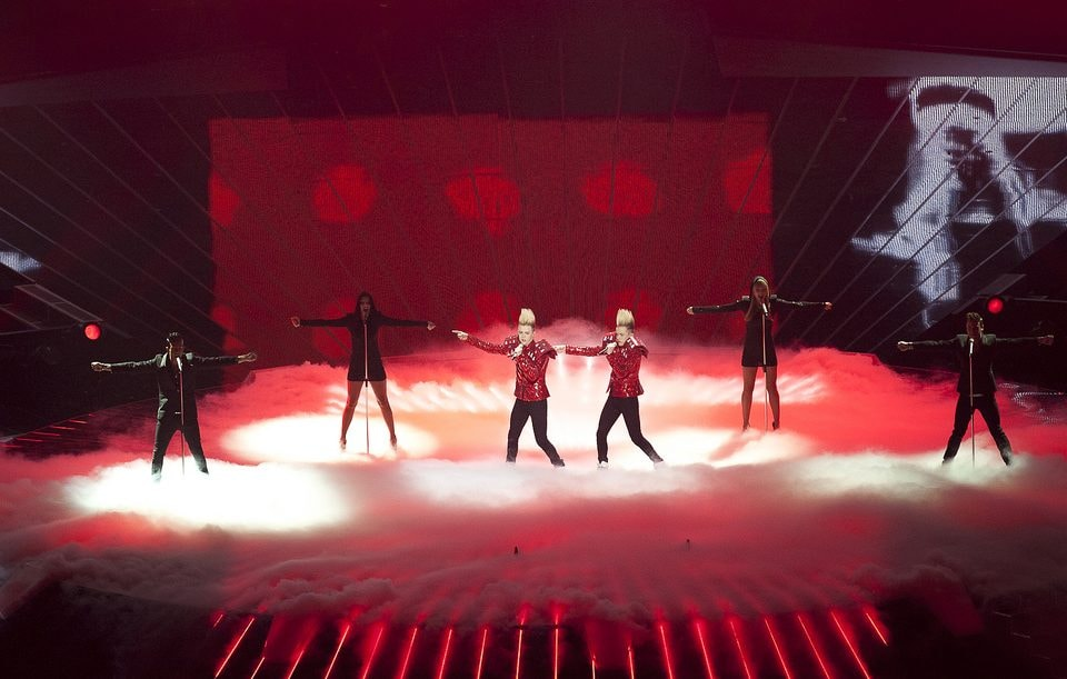 Jedward Performing At Eurovision Song Contest 2011