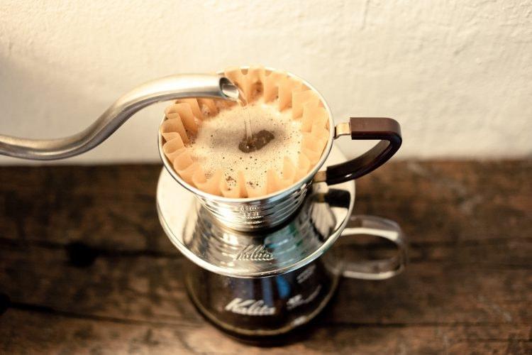 A Kalita coffee drip © Dennis Tang