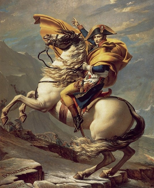 """Jacques-Louis David, 'Napoleon Crossing the Alps', 1801 