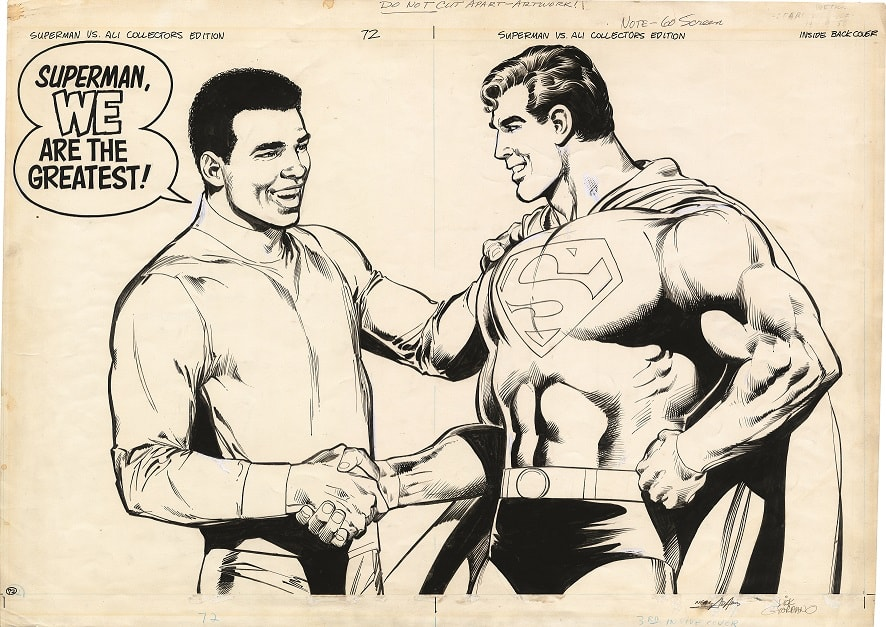 All-New Collectors' Edition #C-56 - Superman Vs. Muhammad Ali 1978 pgs 72-Inside back cover_Neal Adams artist_Dick Giordano_inker_© & TM DC. (s18)