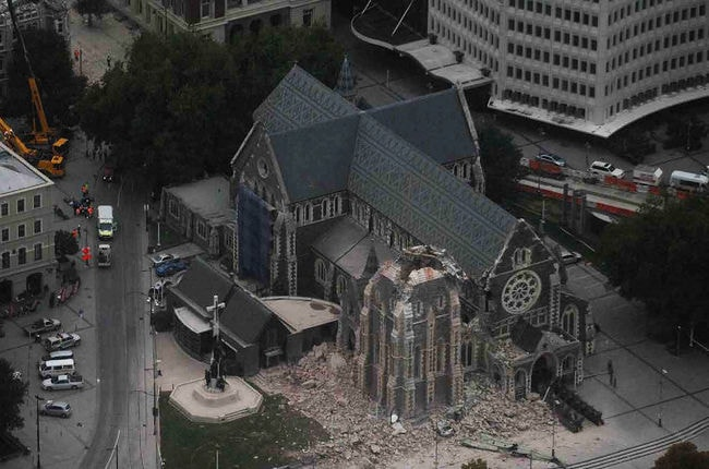 Arial Shot of Christchurch Cathedral