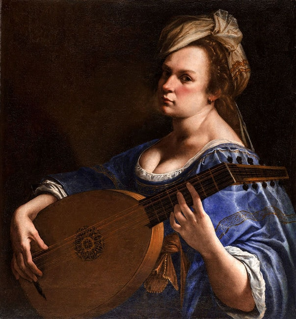 """Artemisia Gentileschi, 'Self-Portrait as a Lute Player', 1616–1617 