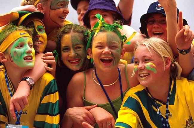 Australian fans   © Australian Sports Commission/Wikimedia Commons
