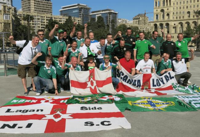 Azerbaijan away Northern Ireland fans