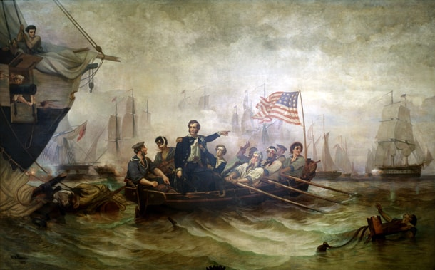 The Battle of Lake Erie | © William Henry Powell/WikiCommons