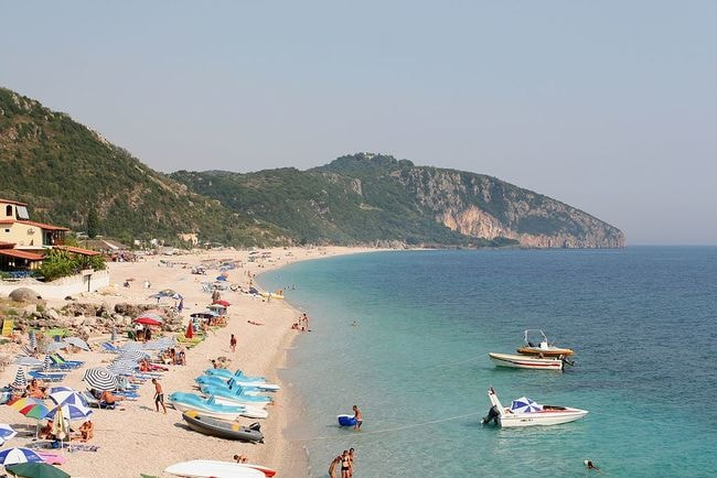 Beach in the village of Dhërmi, Himara, Albania Dori WikiCommons