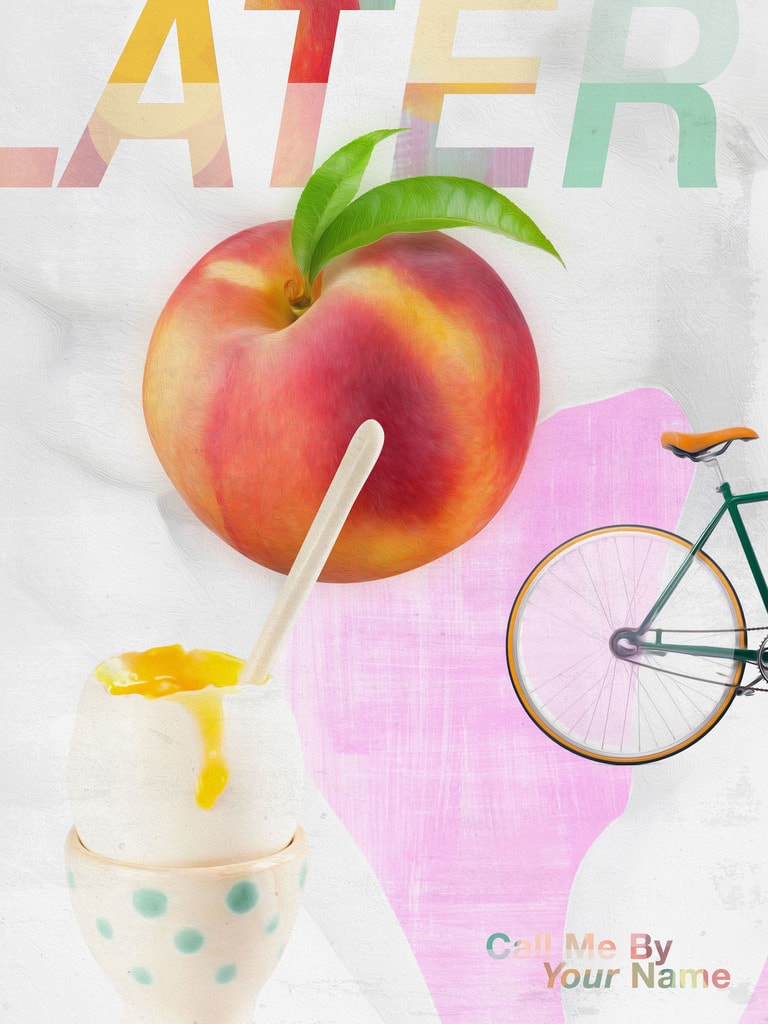 Call Me By Your Name - inspired by James Rosenquist, designed by Tim Harrison:Shutterstock