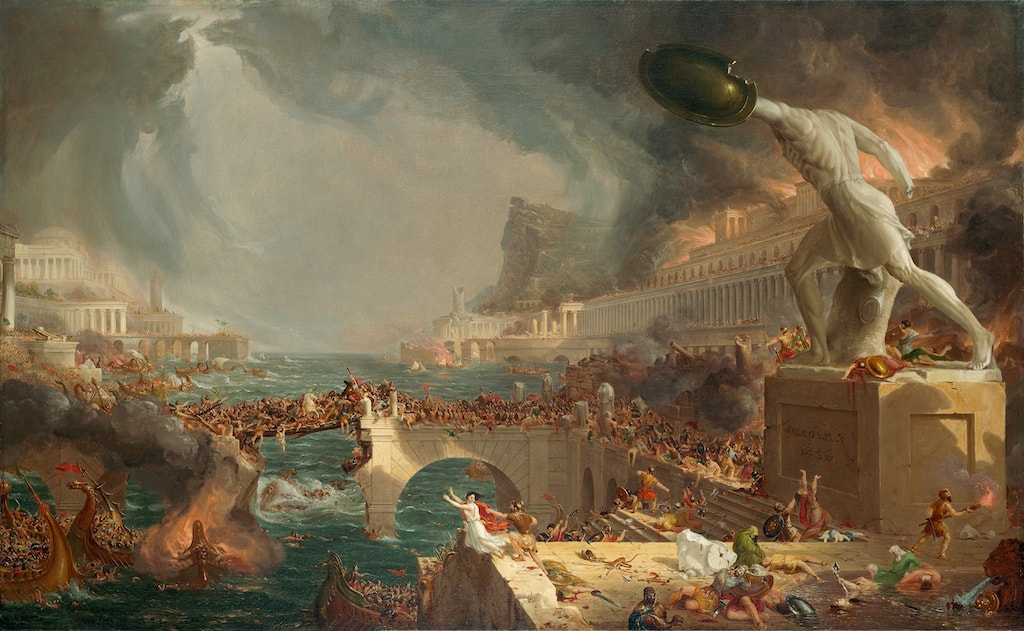 Thomas Cole, The Course of Empire: Destruction, 1836. Oil on canvas. Gift of The New-York Gallery of the Fine Arts, 1858.4.