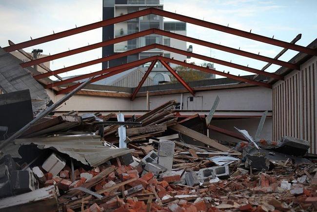 Fallen Building in Christchurch