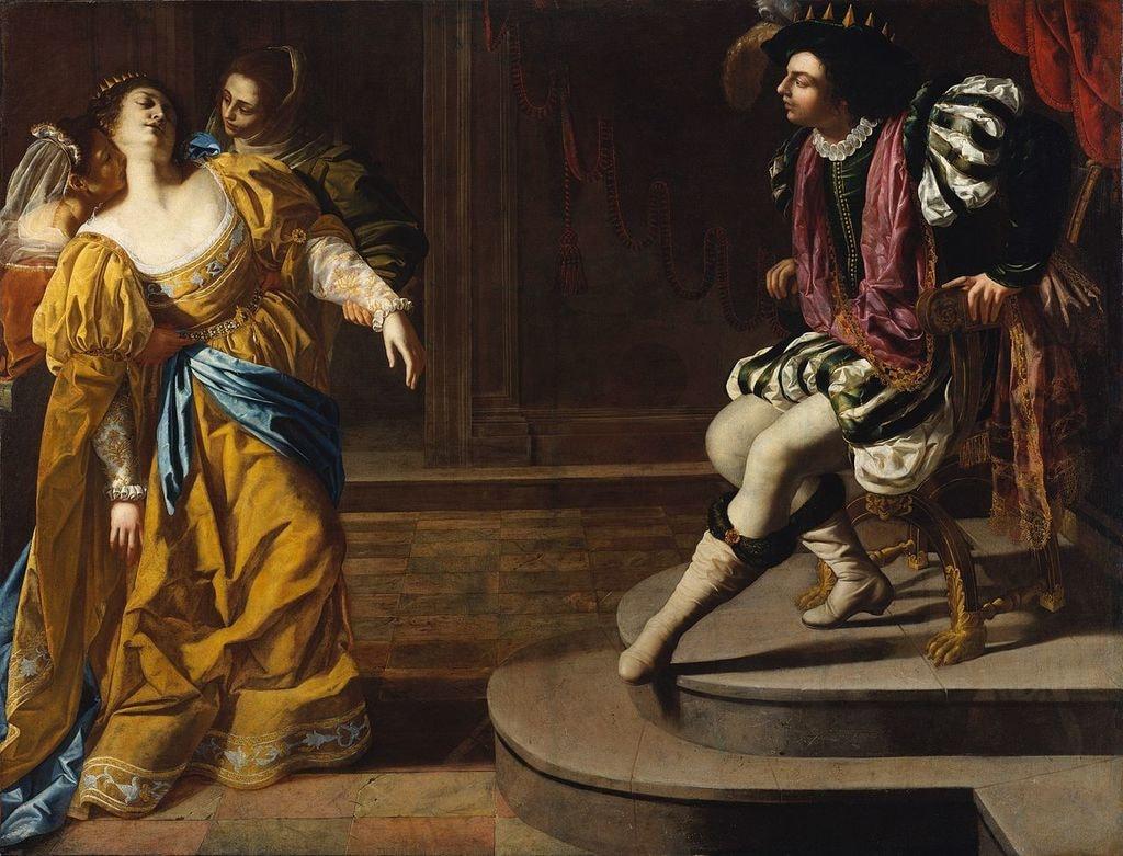 "Artemisia Gentileschi, 'Esther before Ahasuerus', 1628–1635 | <a href=""https://commons.wikimedia.org/wiki/File:Gentileschi,_Artemisia_-_Esther_before_Ahasuerus_-_c._1628%E2%80%931635.jpg"" target=""_blank"" rel=""noopener"">© WikiCommons</a>"