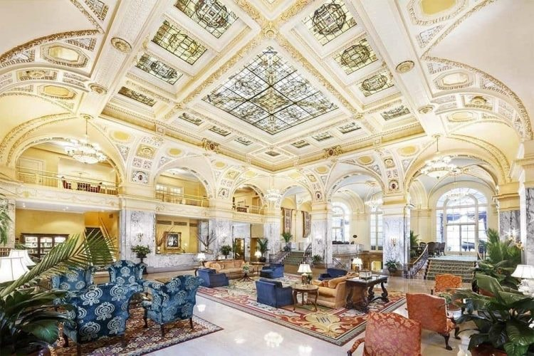 lobby of The Hermitage Hotel