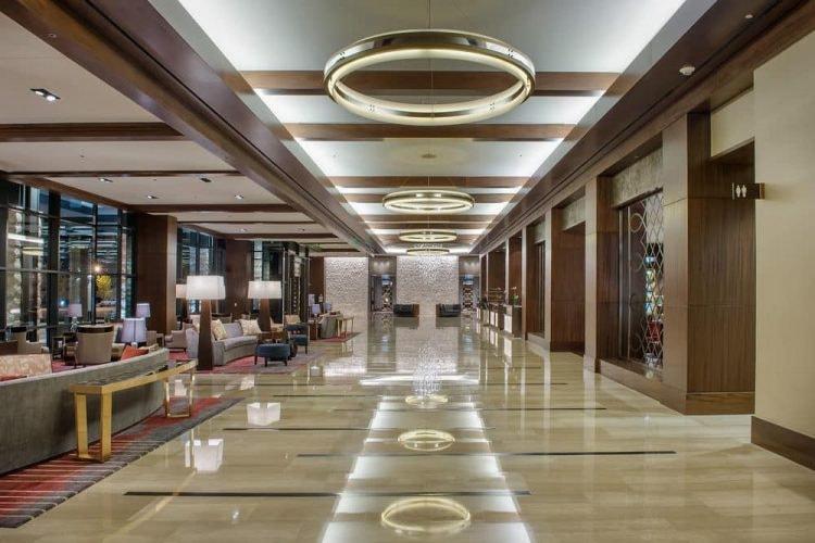 lobby of the Omni Nashville Hotel