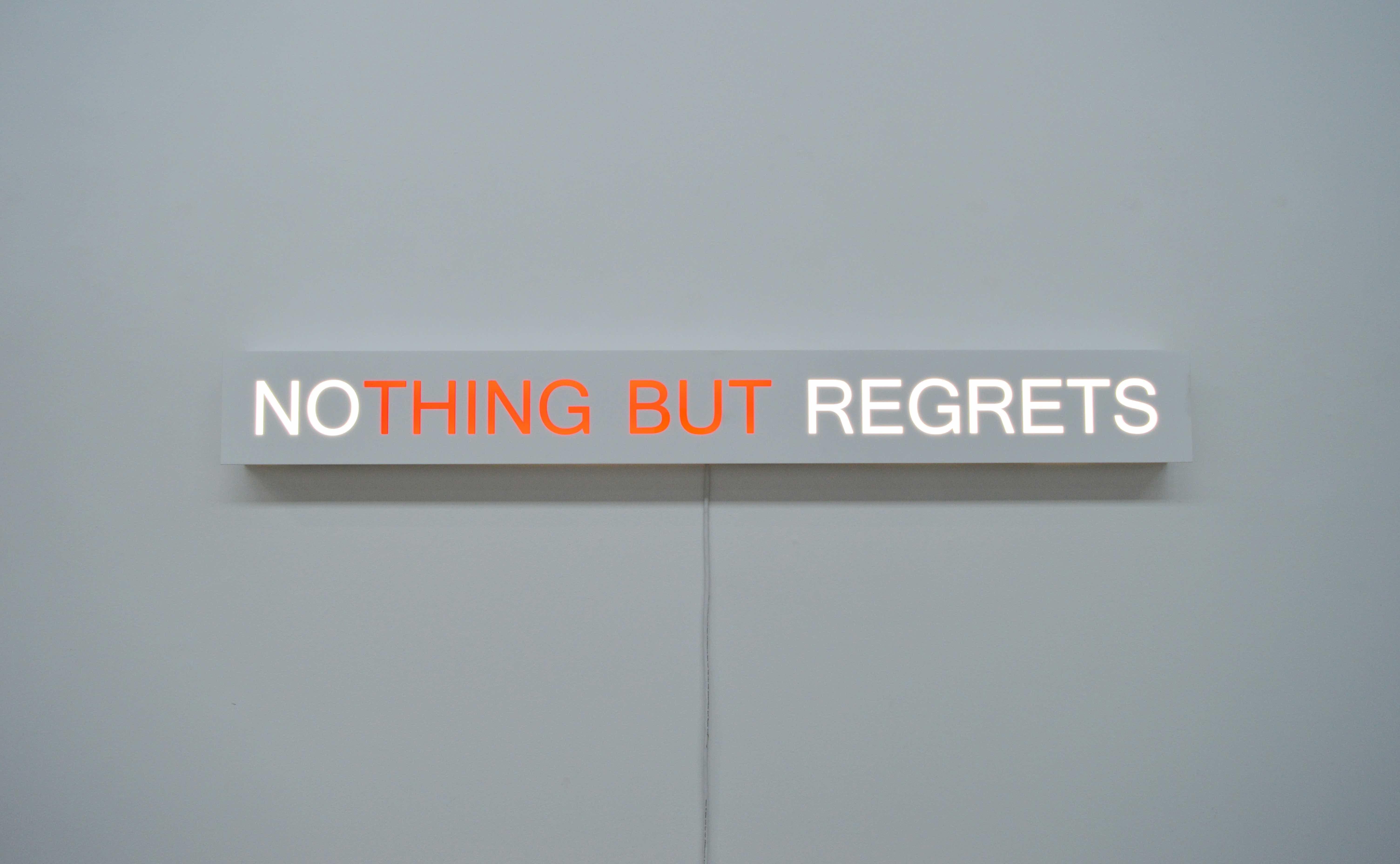 Kelly Mark, No Regrets, 2017 | Courtesy of Kelly Mark
