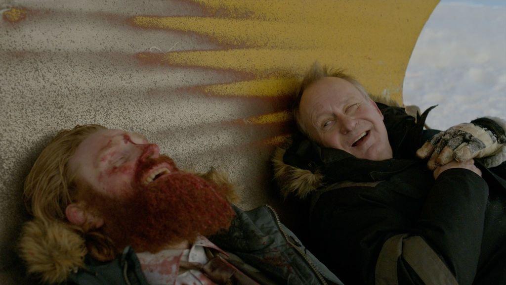 Kristofer Hivju and Stellan Skarsgård in In Order of Disappearance | In Order of Disappearance