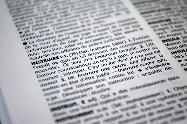 Dictionary Teach Definition Book Learning