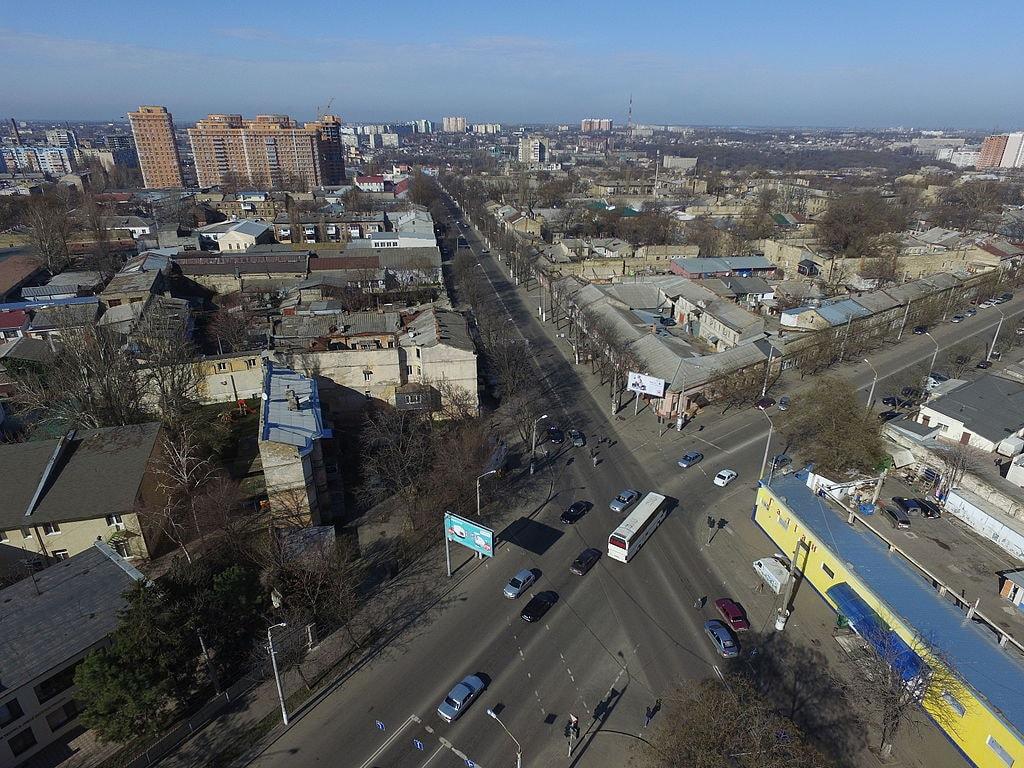 Moldavanka, Odessa, aerial view